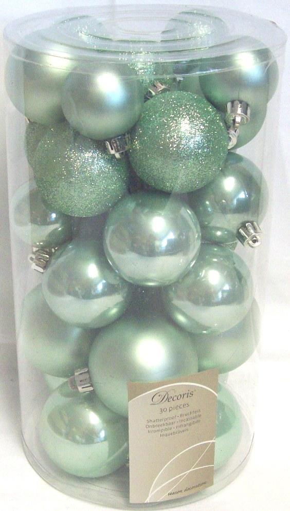 30 Luxury Shatterproof Christmas Baubles Tree Decorations