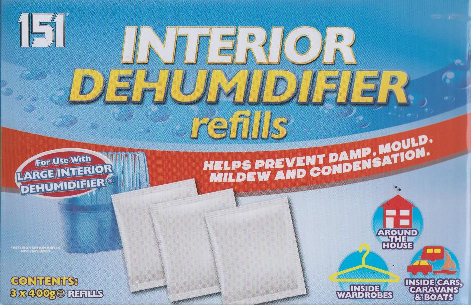 8 x interior dehumidifier refills 3 x 400g refill sachets for large dehumidifier ebay. Black Bedroom Furniture Sets. Home Design Ideas