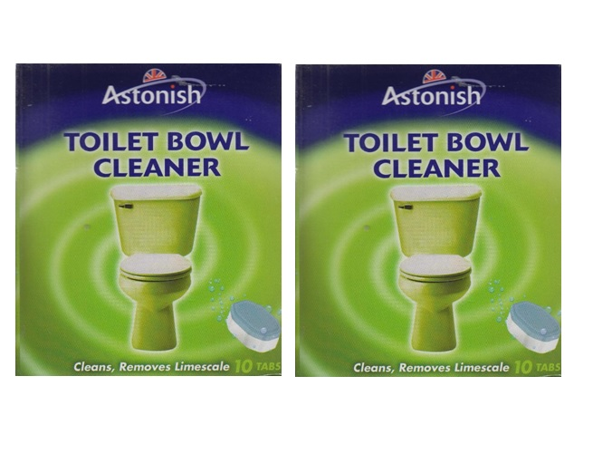 2 x astonish toilet bowl cleaner tabs limescale remover 10. Black Bedroom Furniture Sets. Home Design Ideas