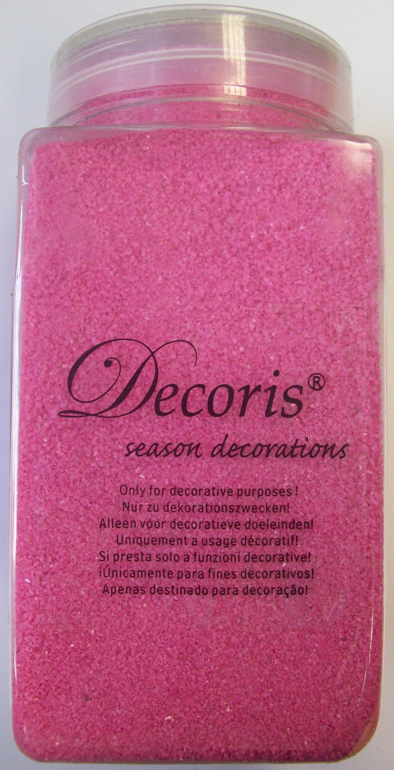 finest selection 02021 dc2c9 Details about Decoris season decorations 500g tub of Pink decorative Sand -  Art sand
