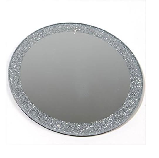 Grand Rond 20 Cm En Verre D 233 Coratif Miroir Plaque Bougie